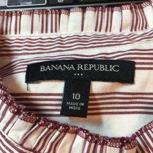 Banana Republic Tops - Banana Republic Sleeveless Button Ruffle Top